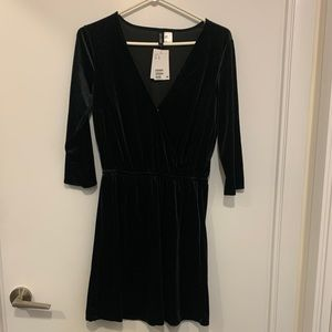 NWT H&M Black Velvet Dress